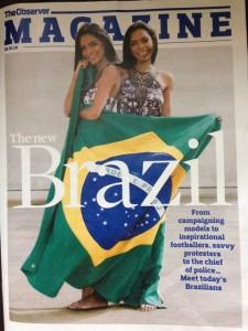 """Capa da revista da edição de hoje do """"The Observer"""""""